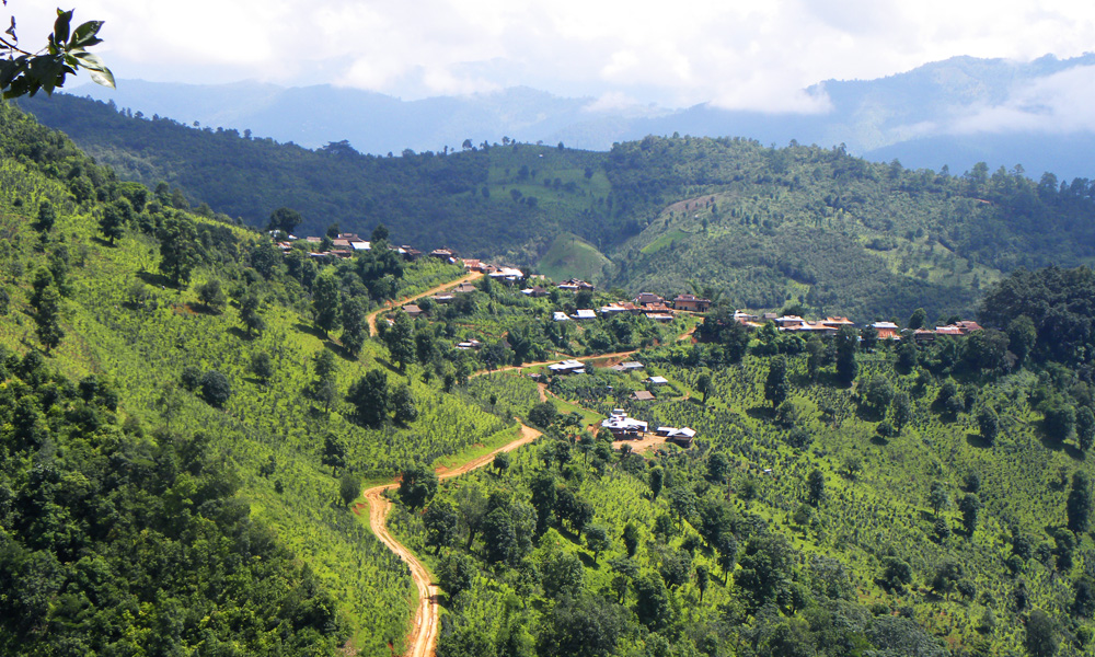 Myanmar Shan State Tour: mountain view