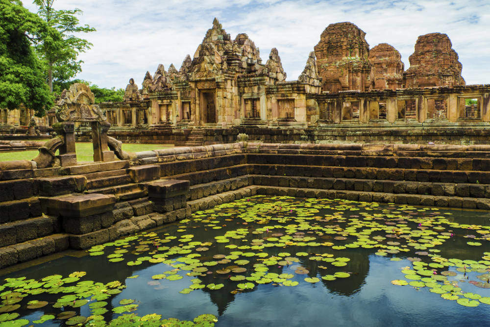 Buriram Muang tum stone castle