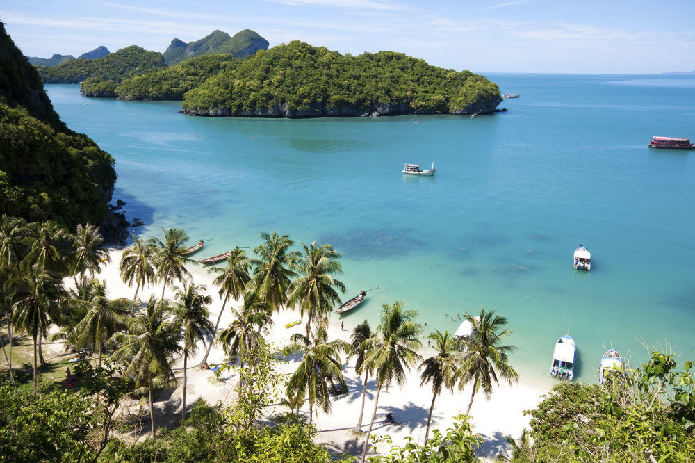 Southeast Asia wedding destinations: Koh Samui view from the top