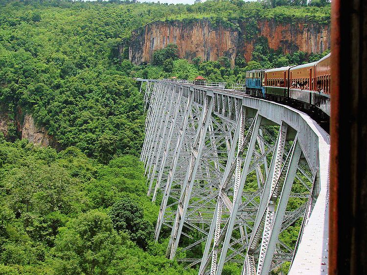 Myanmar Shan State Tour: Gokteik Viaduct