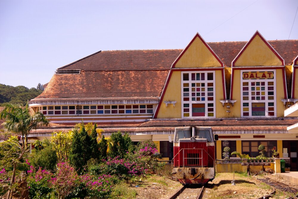visit the charming city of Da Lat on a complete vietnam tour - old train station