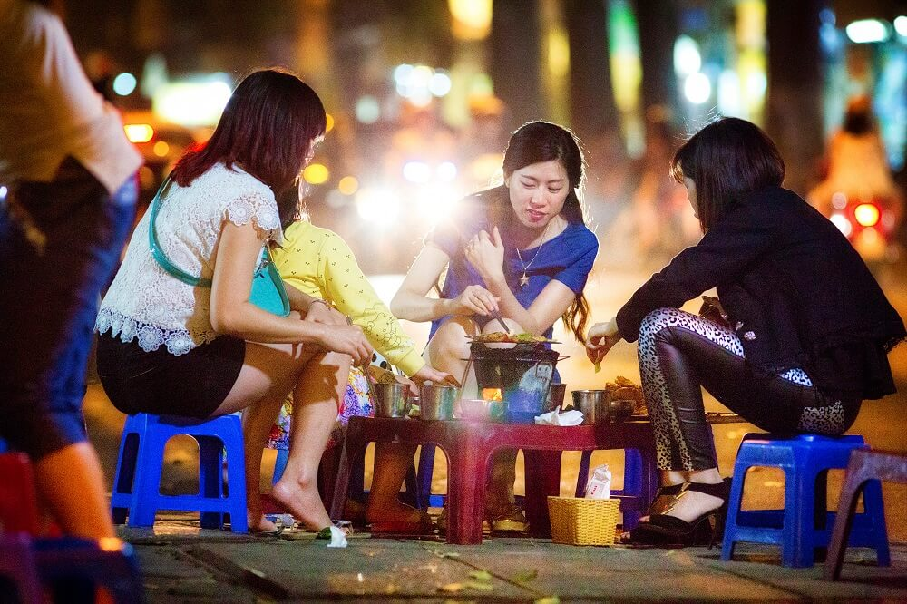 taste local hanoi street food on your complete vietnam tour with backyard travel