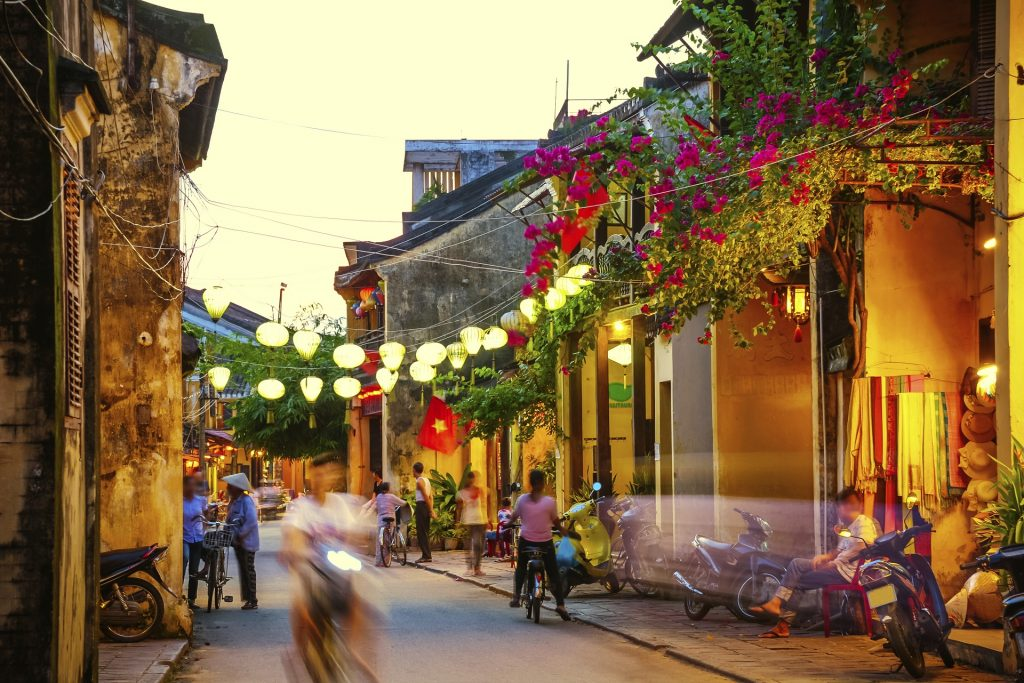 Hoi an Street in the evening