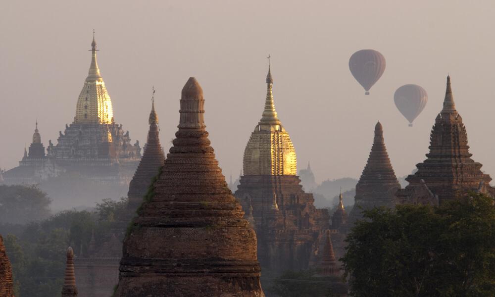 Ananda and Shwegugyi temple seen on Luxury Myanmar tour
