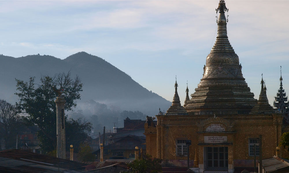 Temple in the early morning of 2 weeks in Myanmar