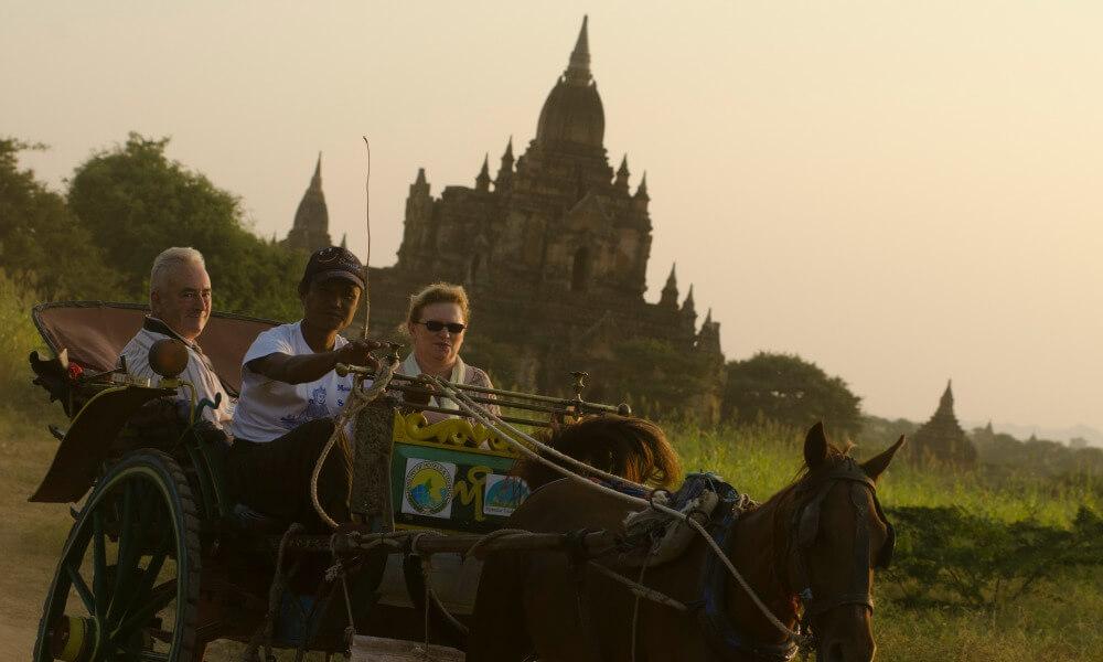 tourist on a luxury Myanmar tour
