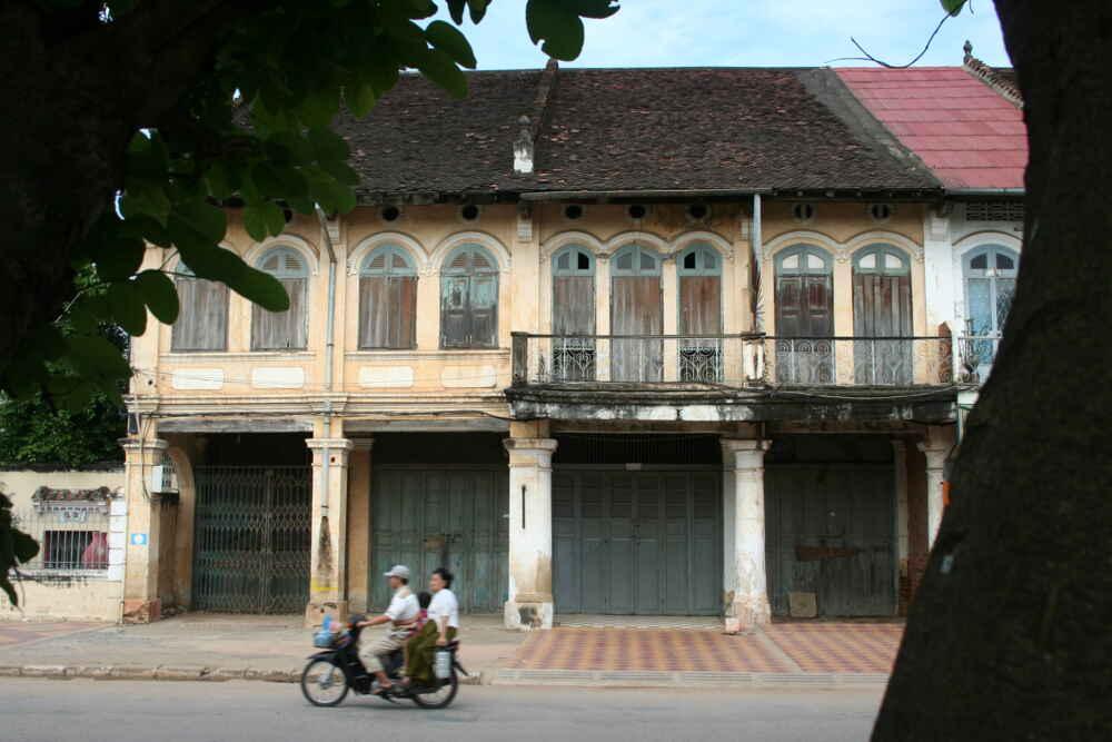 Motercycle People at the Town of Battambang, Cambodia