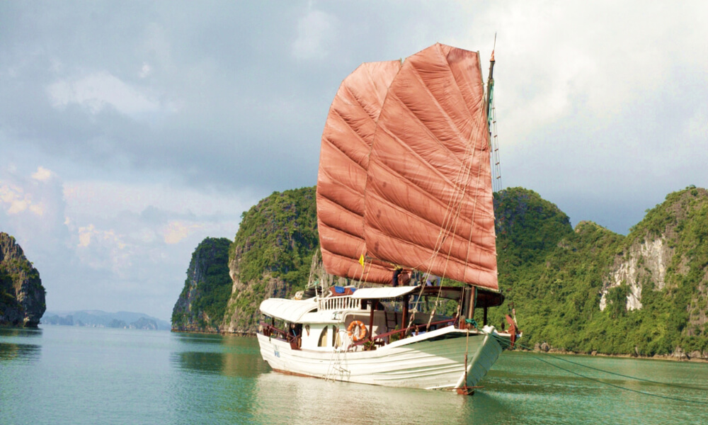 Halong cruise in a Vietnam family holiday tour