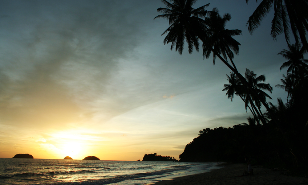 sunset at Khao Lak beach holiday