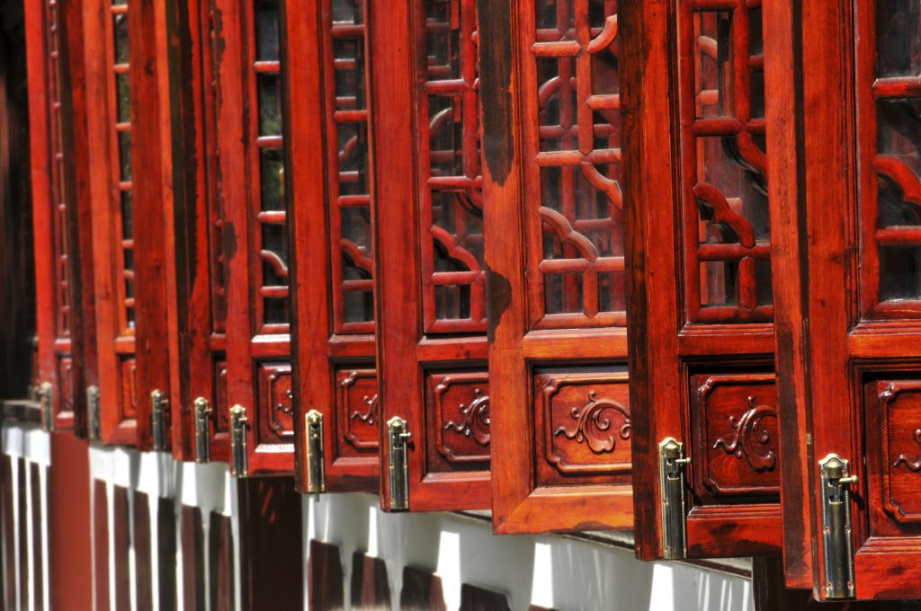 Red doors of china