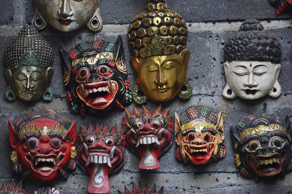 art and spirituality tour: Balinese art work - mask