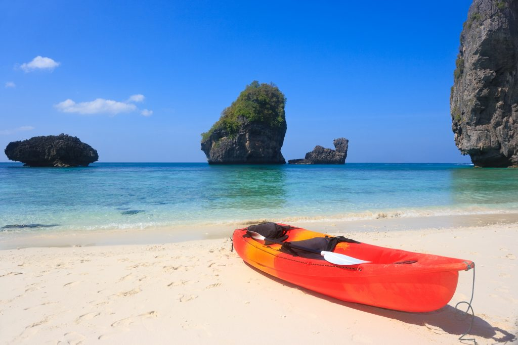 Phuket Beach Holiday: relaxing on the beach and kayaking