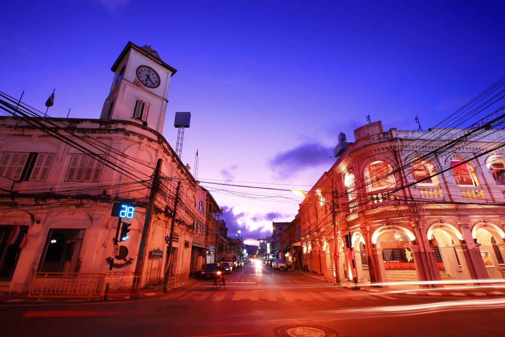 Tour Phuket Koh Phi Phi: Phuket old town at night