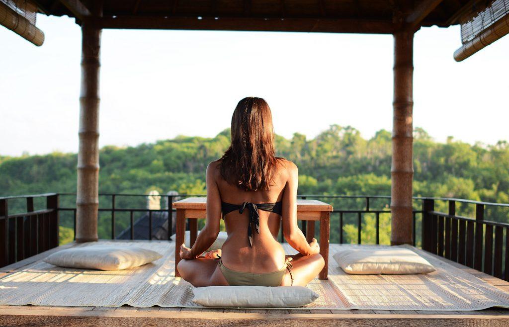 art and spirituality tour: lady practicing meditation