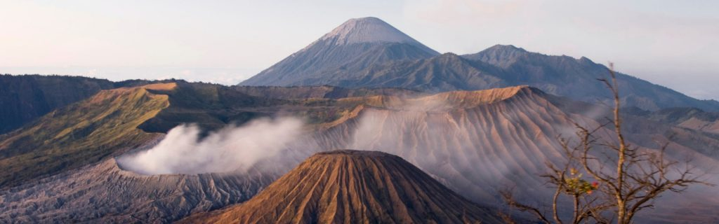 beautiful panorama landscape over mt bromo - tour with backyard travel