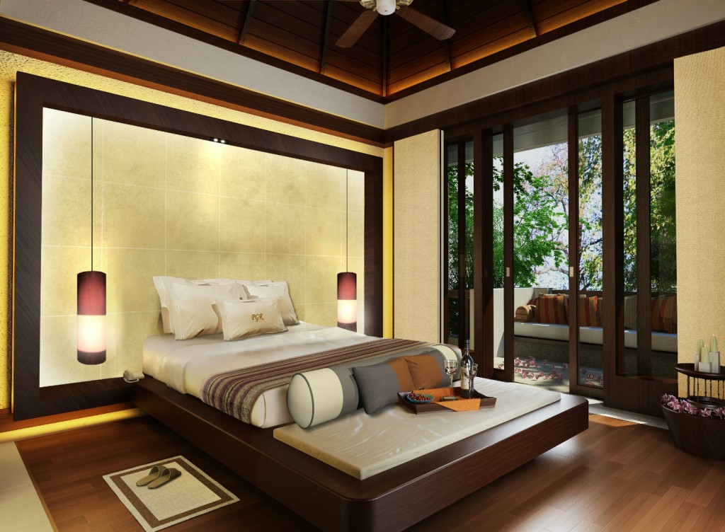 luxury resorts - Gaya Island resort canopy villa