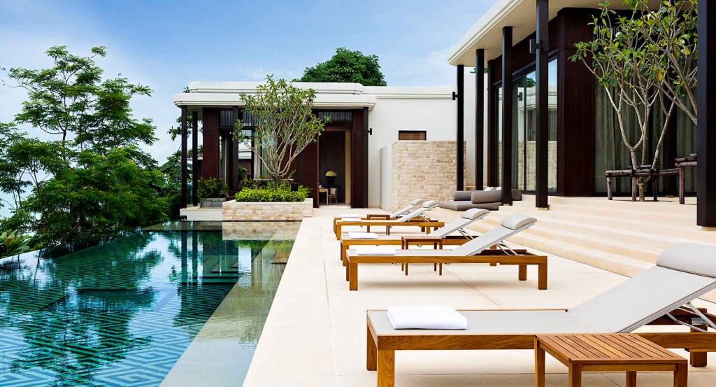 luxury resorts - Layan Residences by Anantara , Thailand - pool terrace
