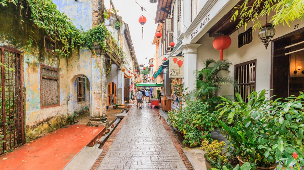 Streets in Ipoh Malaysia