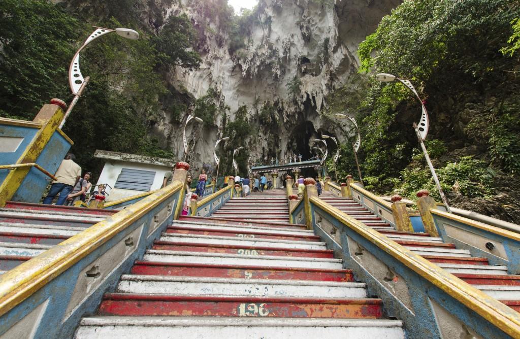 Malaysia - stairs to Batu Caves, Kuala Lumpur
