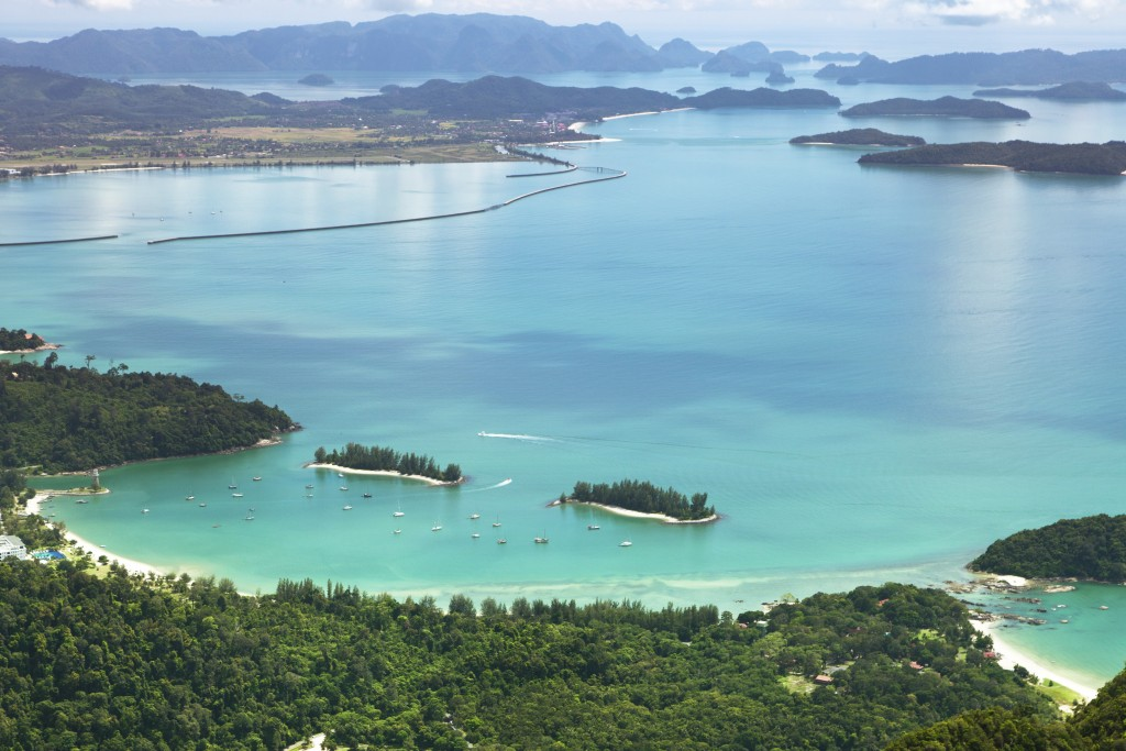 Best place to visit in Malaysia: Langkawi view of the island from the sky