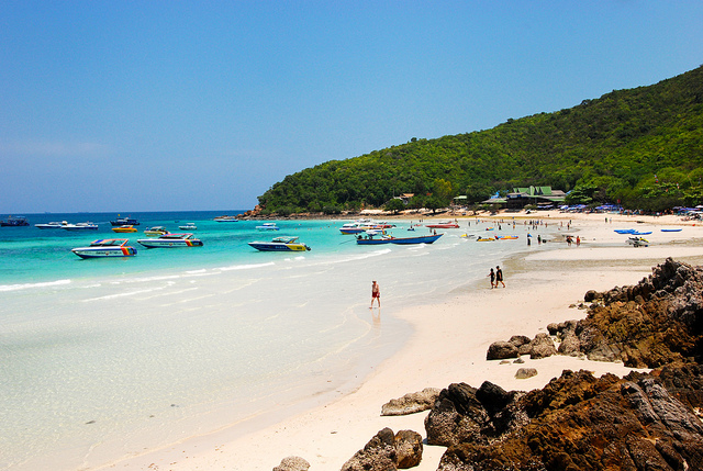 Most famous beach in Thailand: Pattaya beach