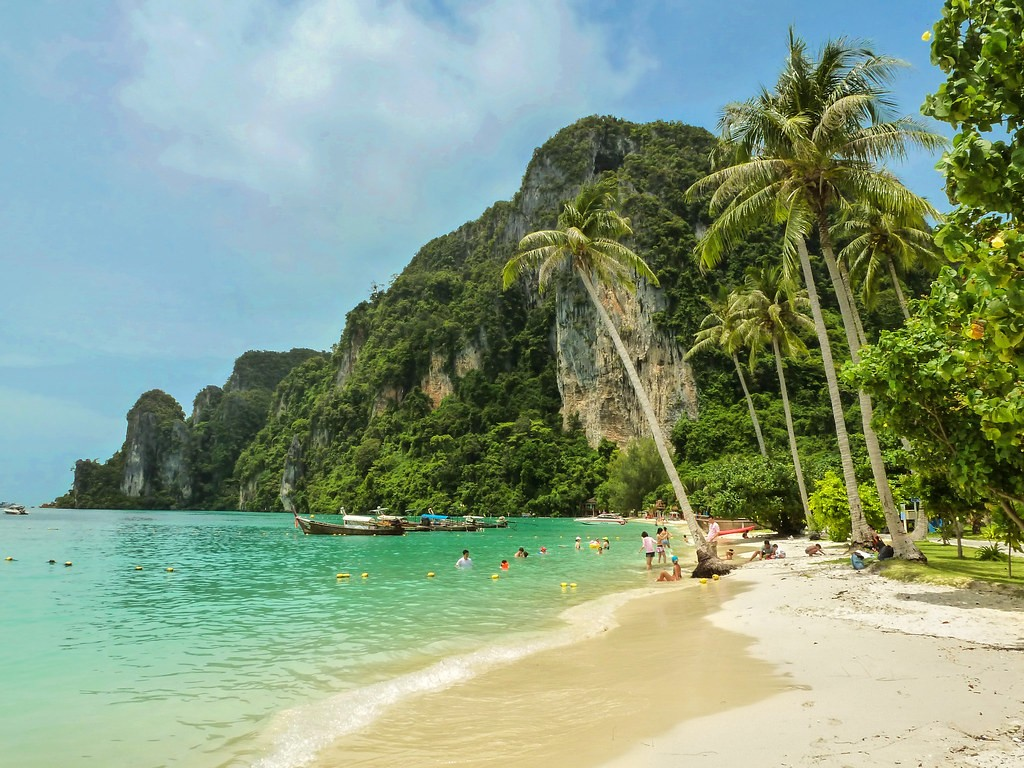 Most famous beach in Thailand