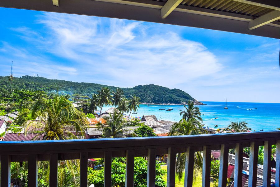 Perhentian Islands, Malaysia: view from hotel/guesthouse