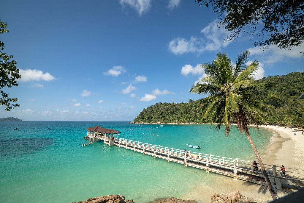 Beautiful day at a pier on Perhentian Islands, Malaysia