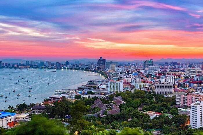 family holiday in Thailand: Pattaya from view point