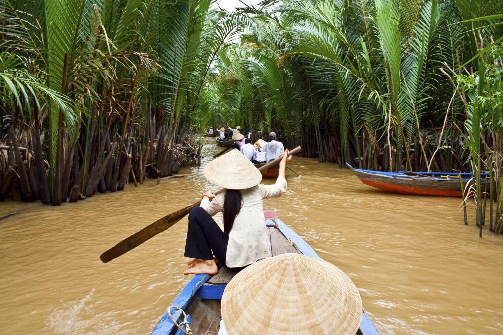 Mekong delta tour in the river