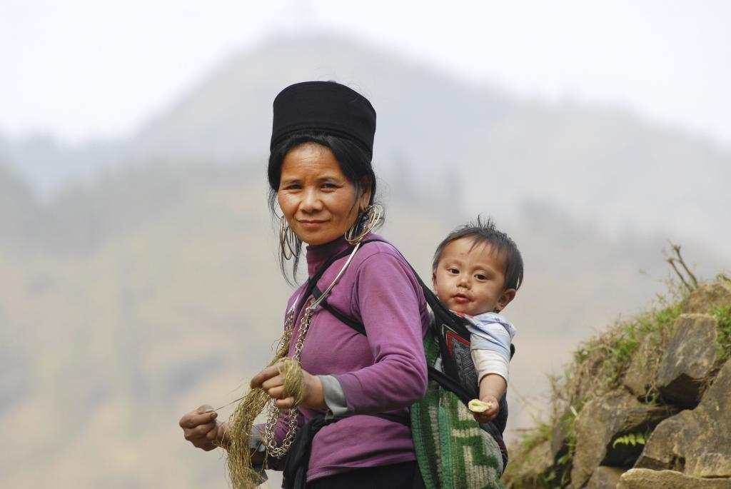 Hmong tribe with baby