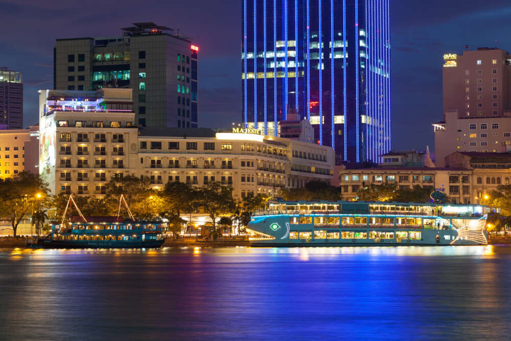 Vietnam, HoChiMinh city at night, Saigon