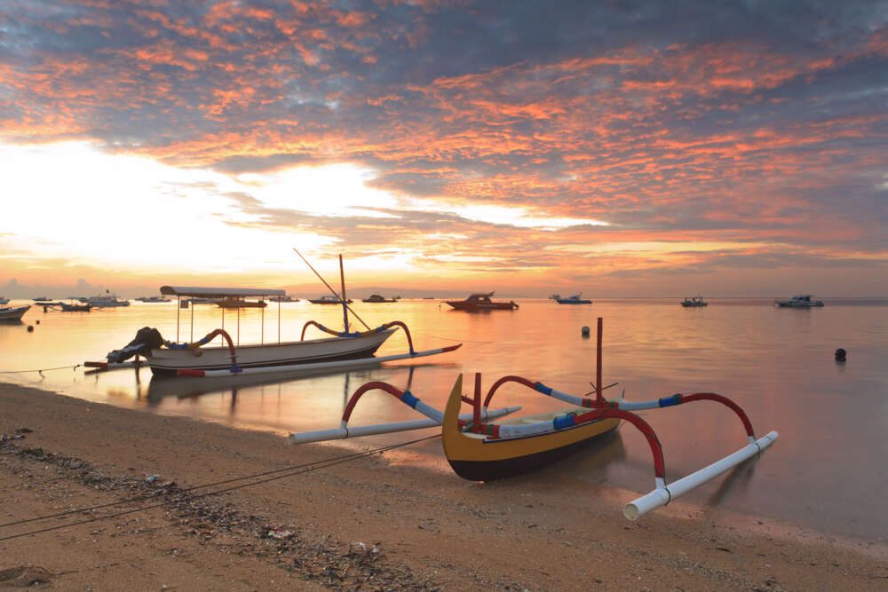 Bali honeymoon itinerary: sanur at sunset