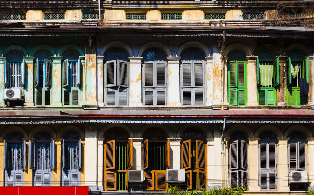 Travel and tour in Myanmar: Yangon Old European houses style