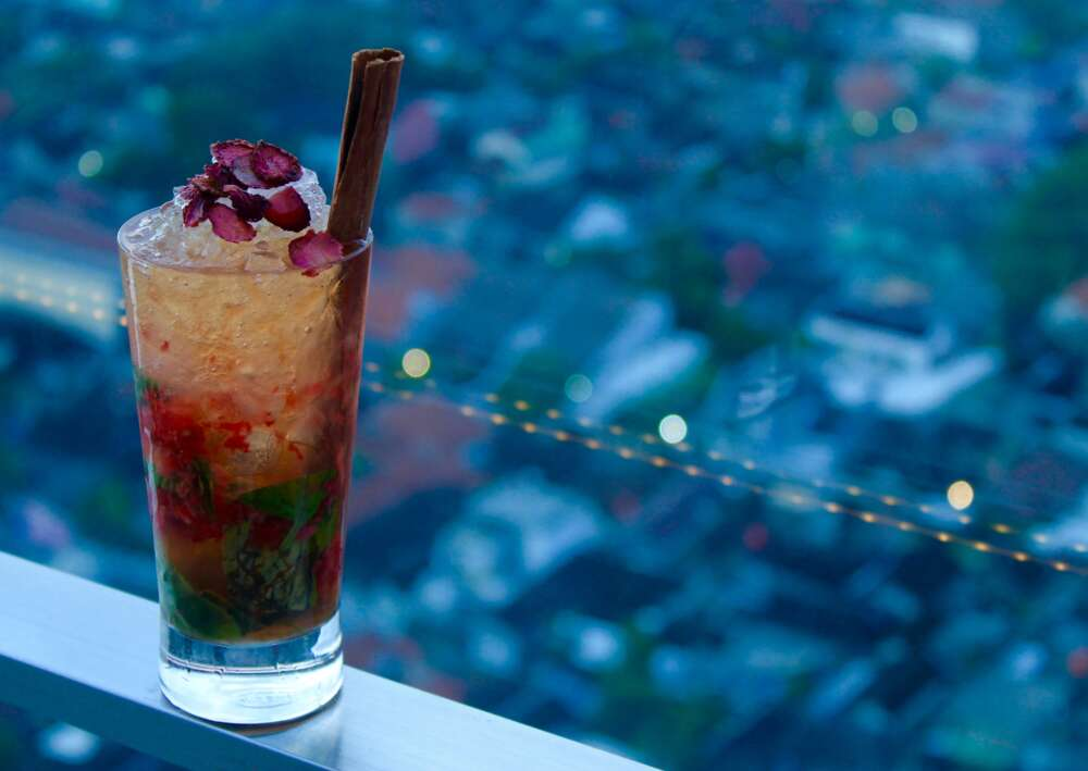Drink made with berries in Myanmar