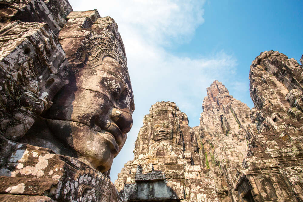 Cambodia with kids: Bayon Temple