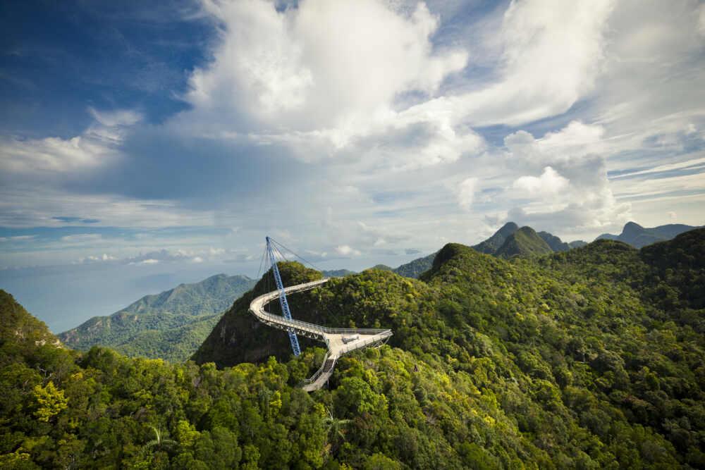 langkawi bridge in Malaysia