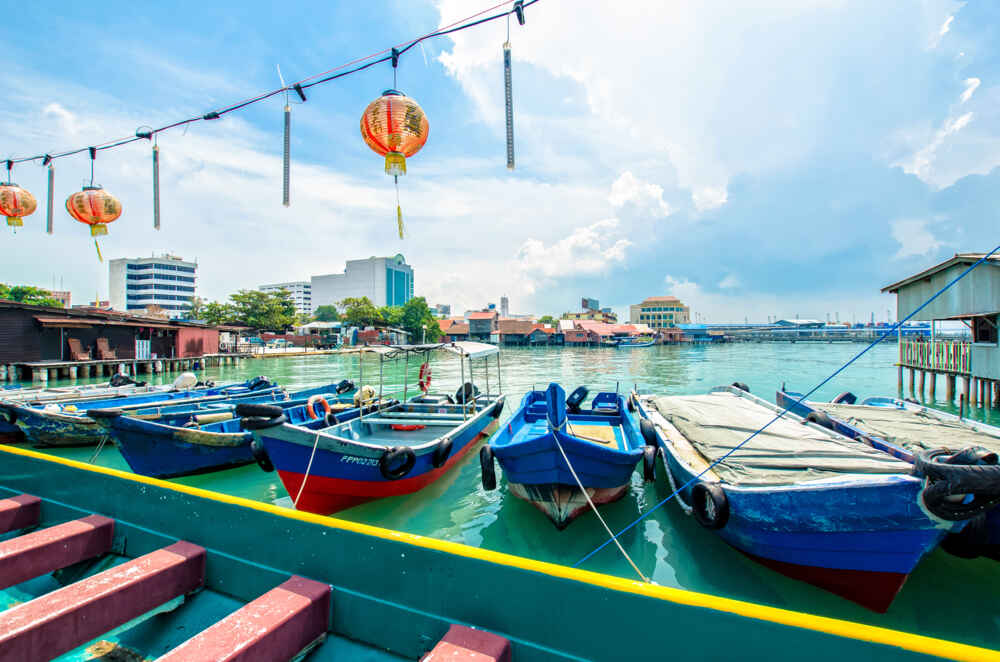 Northern Malaysia tour: boats in Penang