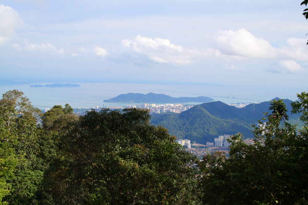 Northern Malaysia tour: city view from the top