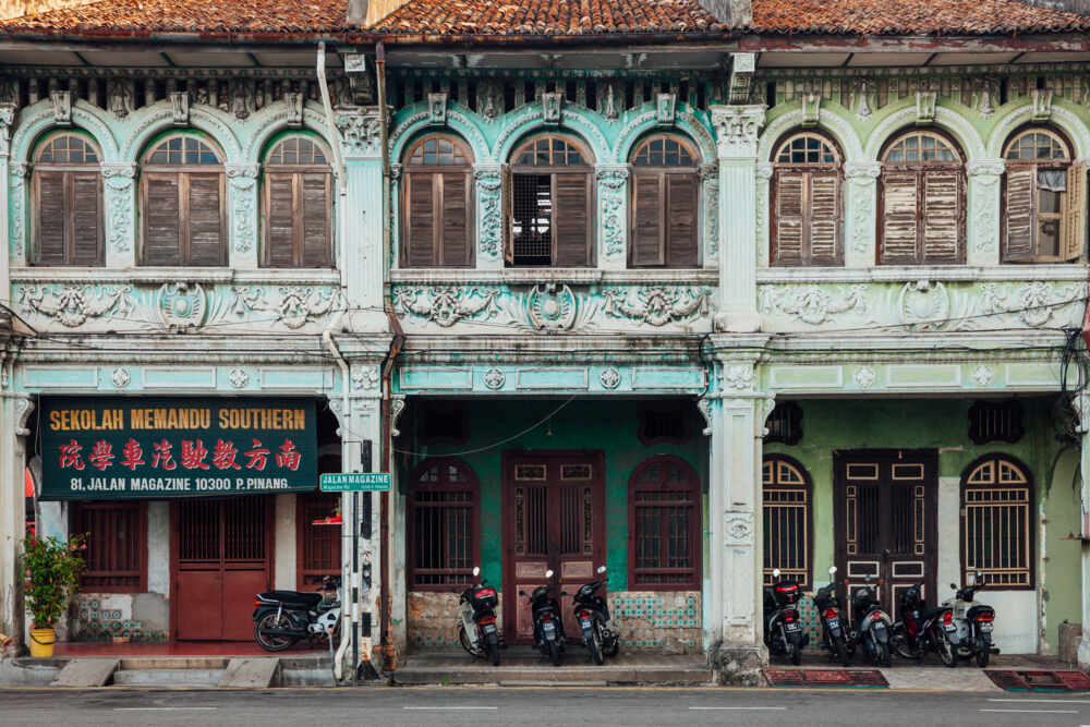 Northern Malaysia tour: traditional penang houses