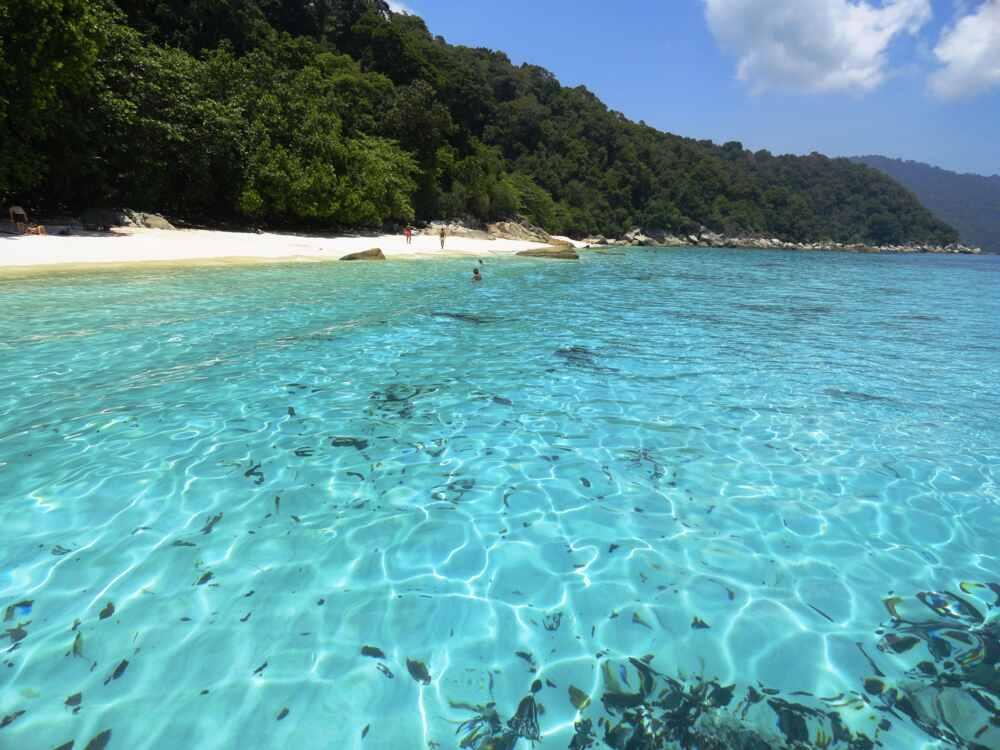 perhentian island beach in Malaysia
