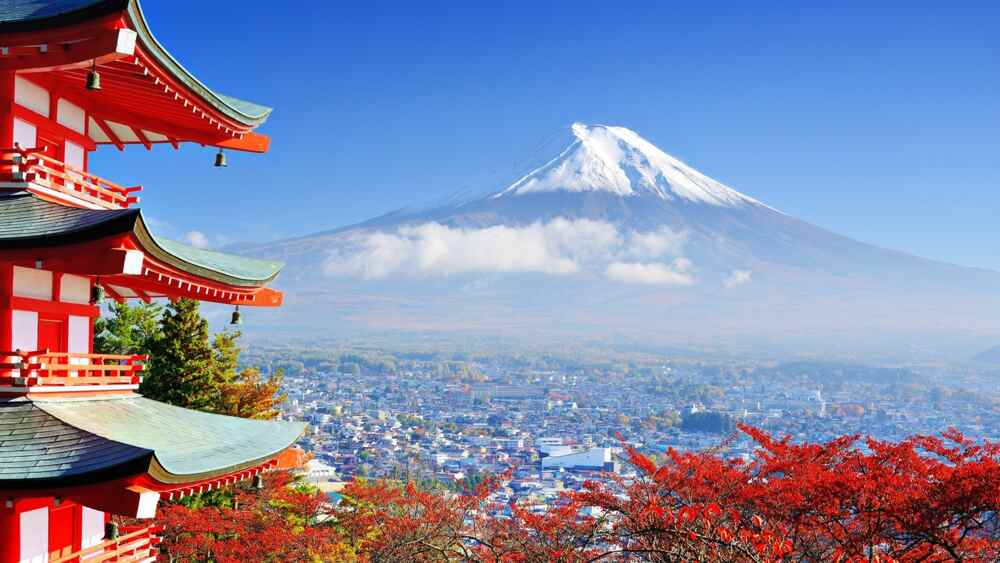 Mount Fuji in Japanese new year
