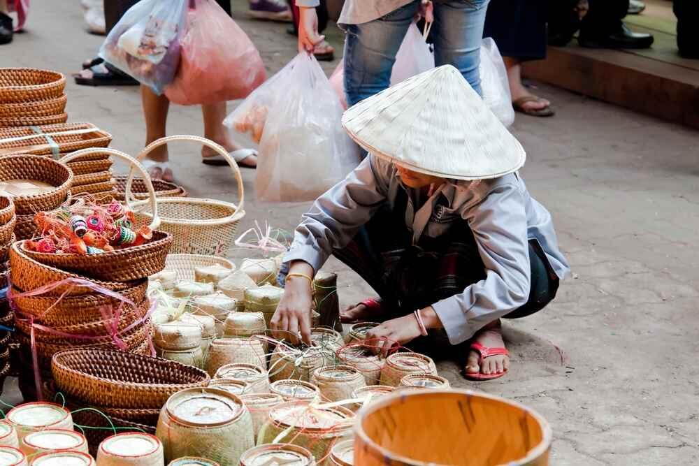 Laos 7 days itinerary: Champasak market