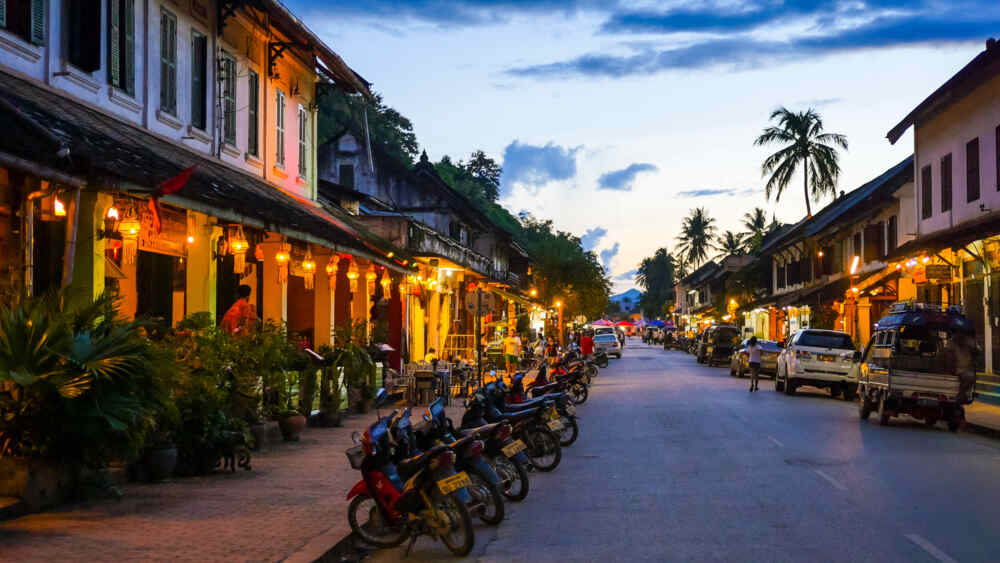 Main Street in Luang Prabang, Laos