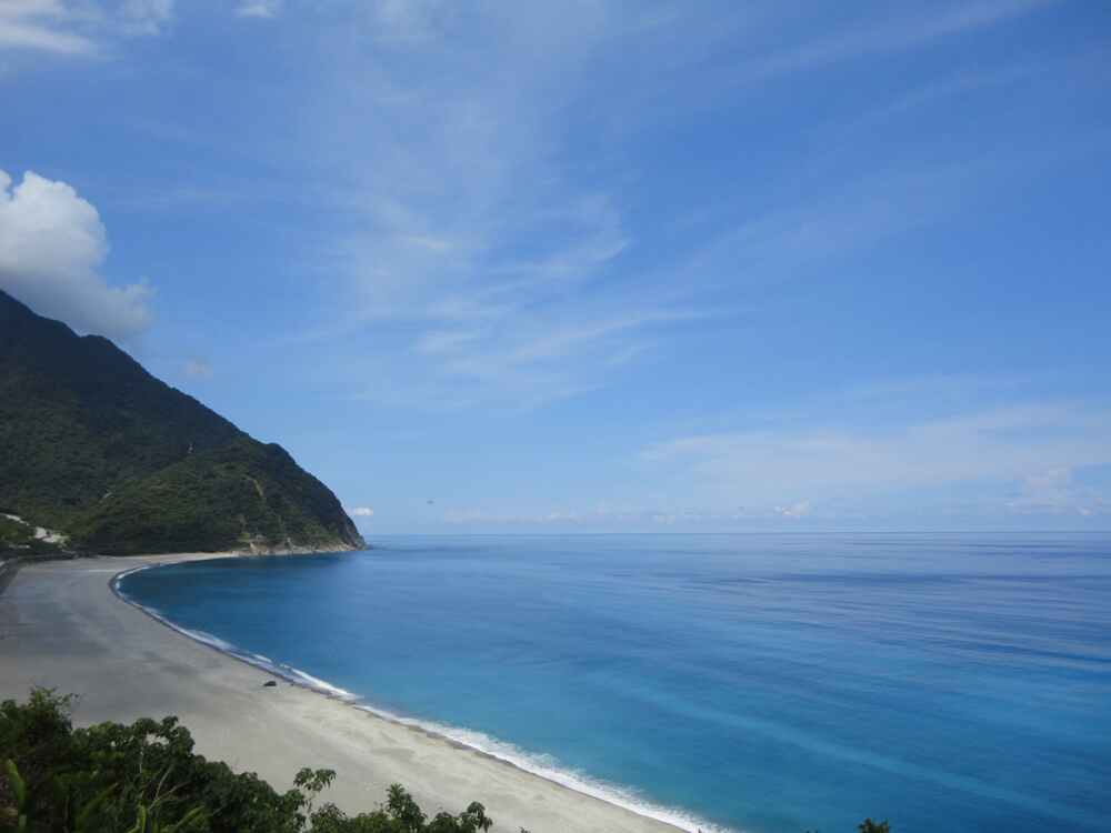 Kenting beach and cliffs in Taiwan