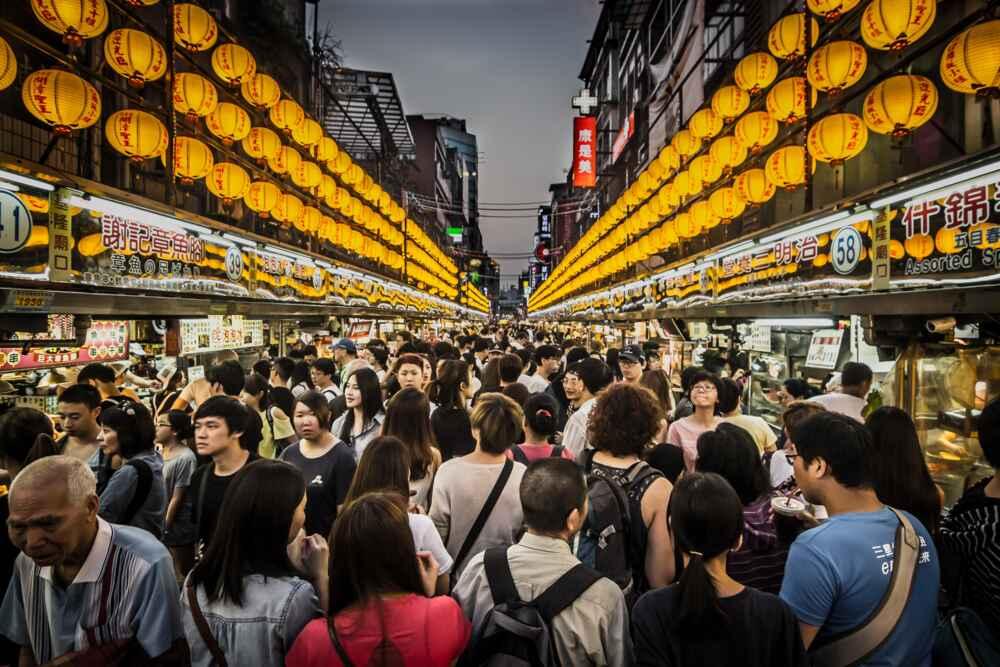 Taiwan city tour at a night market