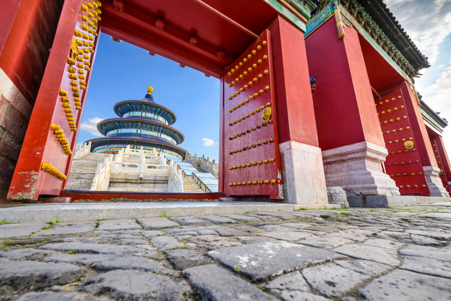Start you great wall trekking by visiting the temple of heaven in Beijing