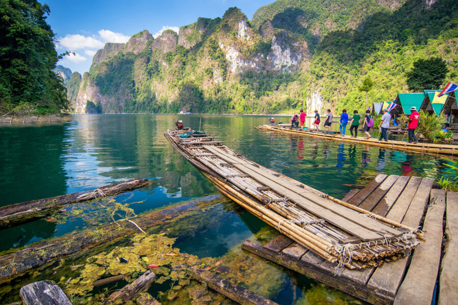 adventure in khao sok national park lake, in the south of thailand