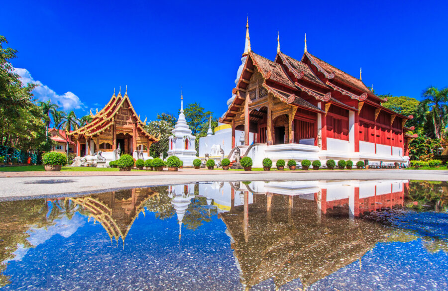 visit wat phra sing in chiang mai on our northen thailand tour