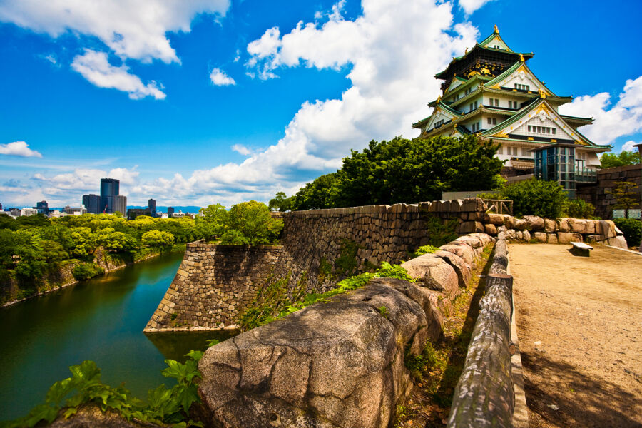 visit osaka castle during your japan tour packahe trip with backyard travel